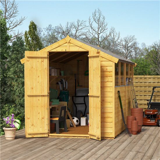 Image of 8x6 Keeper Overlap Apex Wooden Shed Windowed BillyOh