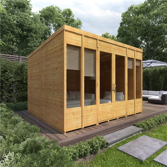 Image of 10x8 Bella TandG Pent Summerhouse BillyOh
