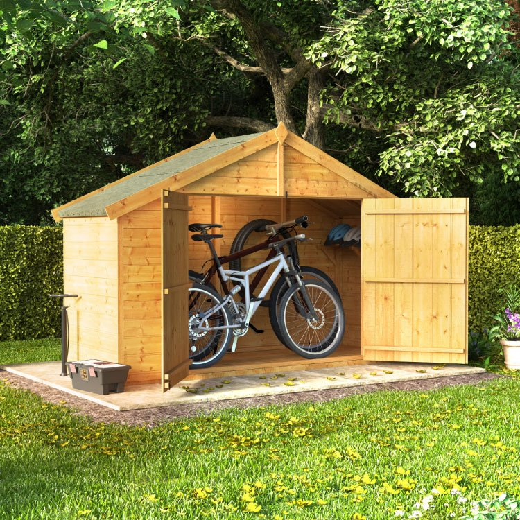 Image of 3x8 TandG Apex Bike Shed Mini Master BillyOh