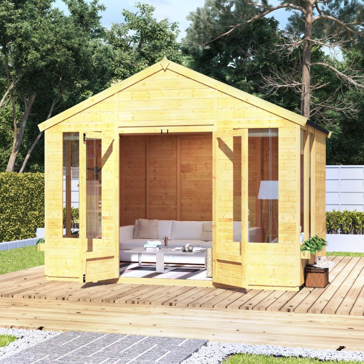Image of BillyOh Holly Tongue and Groove Apex Summerhouse 8x10 TandG Apex Summerhouse