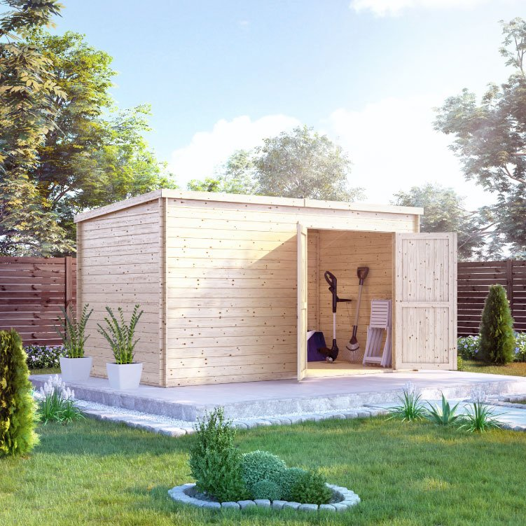 Image of 39m x 21m BillyOh Pro Pent Log Cabin 28